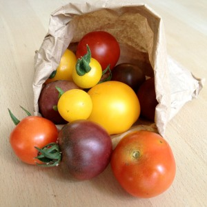 Locally grown tomatoes
