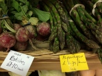 Radishes and asparagus