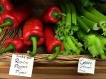 Ramiro peppers and celery
